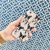 phone cover,yeah bunny,iphone case,cover,frenchie,dog,cute,glitter,silver,frenchbulldog