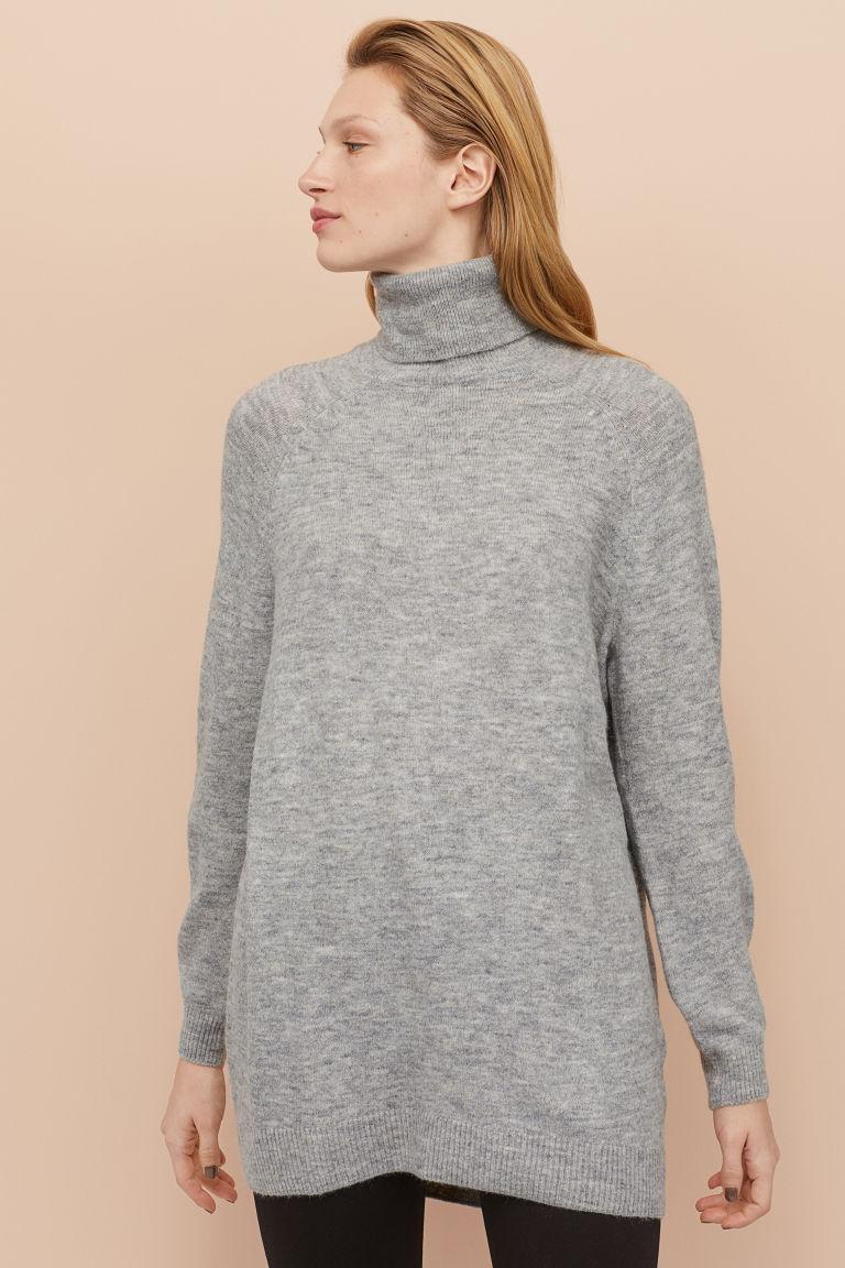 Langer Rollkragenpullover - Hellbeige - Ladies | H&M DE