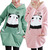 Cartoon Panda Pattern Cute with Lining Spring Hoodie for Women | eBay
