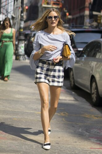 blouse shorts flats ny fashion week 2016 streetstyle blogger olivia palermo