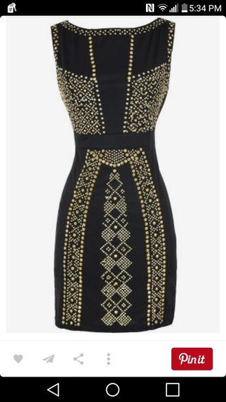 dress black and gold dress black and gold bodycon dress bodycon