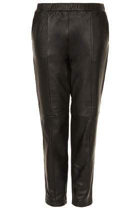 MOTO Leather Front Joggers - Trousers  - Clothing  - Topshop Europe
