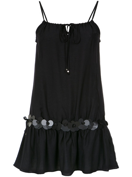 AMIR SLAMA dress women embellished cotton black