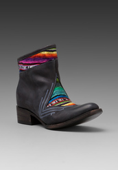 shoes,boots,rainbow,black,heels,aztec,leather,ankle boots,stripes,pattern