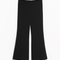 & other stories | cropped kick-flare trousers | black