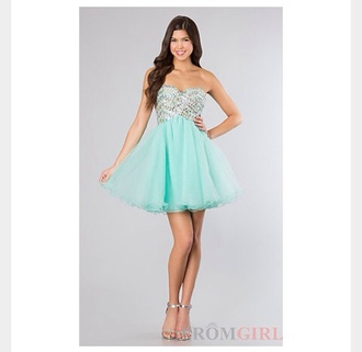 dress brightblue light blue mint homecoming sparkle short sequins prom dress studded beaded formal sweet style stylish any colour #dress #openback #pretty #formal