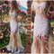 Niceoo dresses | sexy white scoop neck floor length tulle prom dresses with lace