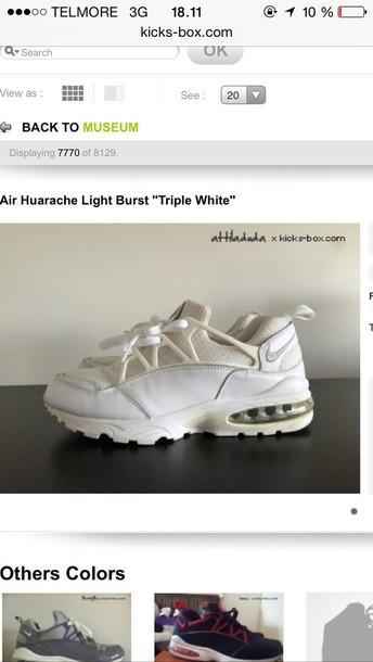 online store 5cce9 aac8a shoes nike air huarache light burst triple white huarache nike huarache  light beige laser crimson