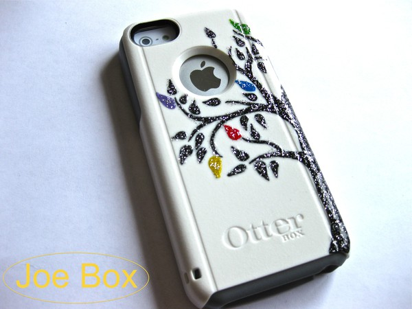 otterbox iphone case iphone 5c iphone 5c iphone 5c 5c iphone cover tree blue red yellow green purple cute glitter glitter case glitter case etsy etsy sale sale