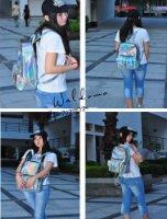 Amazon.com: Hoxis Gammaray Rainbow Hologram Backpack Bling Glitter Womens Transparent Bags (Glod): Clothing