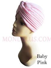hat,mondelusfashion,chemo hat,hair loss hat,mondelus.com,pink turban,headband,headwrap