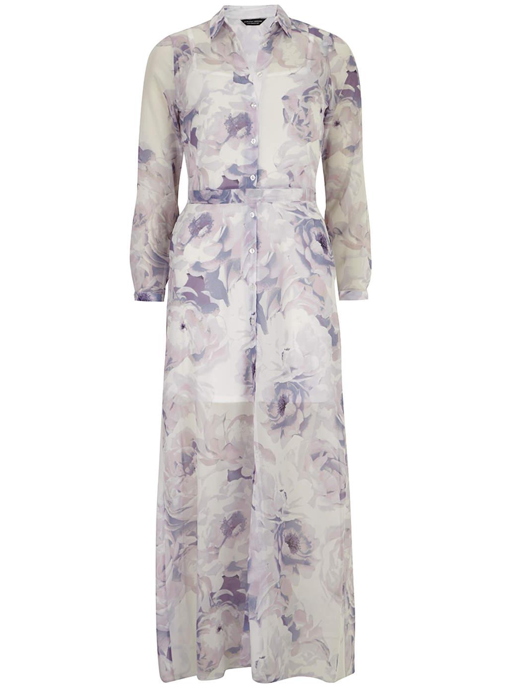 Floral shirt maxi dress
