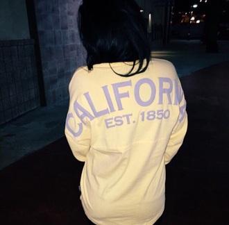 sweater yellow california