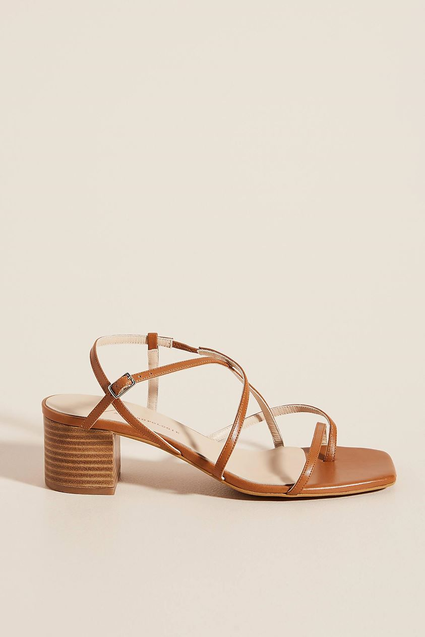 Tamara Strappy Heels by Anthropologie in Yellow