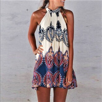 dress boho chic bohemian boho halter dress pattern halter dress girly summer festival dress festival sunny weather