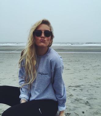 sweater california sweatshirt grey sweater unisex womens sweatshirts