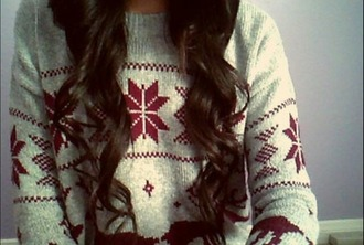 sweater ugly christmas sweater red sweater