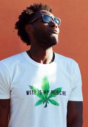 t-shirt,weed is my medicine,medicinal marijuana,cannabis tshirt,marijuana tshirt,weed,weed shirt,weed top,weed t-shirt,weed tshirt,white t-shirt,mens t-shirt,menswear,weed leaf leggings,marijuana,marijuana socks,marijuana clothing,cannabis shirt,cannabis clothing,cannabis top,stoned t-shirt,organic,organic cotton,marbella