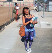 pants,vest,blue,converse,bag,galaxy print,leggings,starry,cardigan,necklace,brown leather bag,leather bag,leather,india westbrooks,back to school,school bag