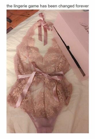 underwear pink sexy lingerine rose antique