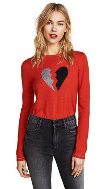 Bella Freud sweater heart red