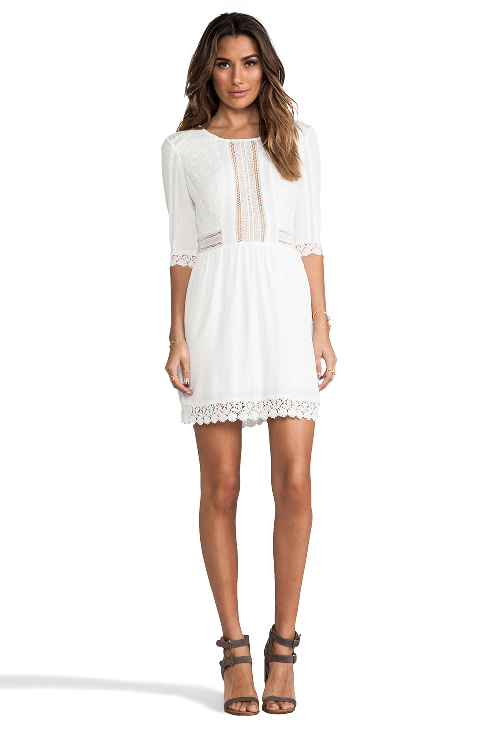 heartLoom Aimee Dress in White | REVOLVE