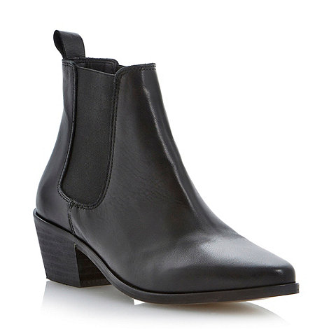 Black leather pointed toe chelsea ankle boot at debenhams.com