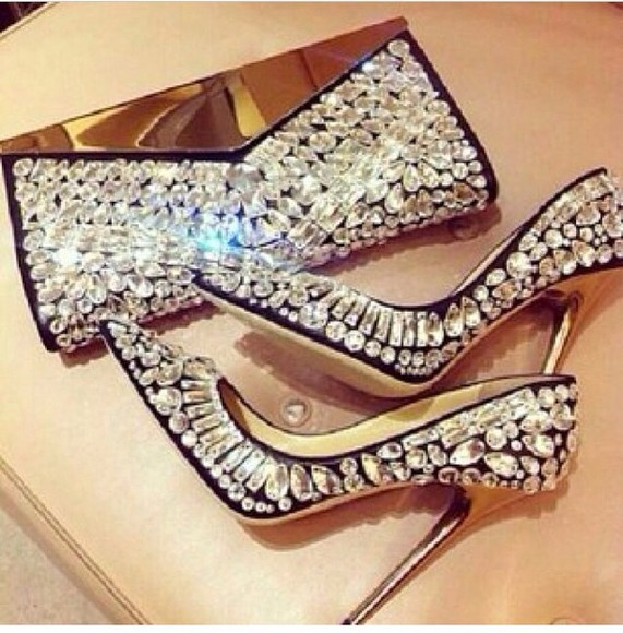 bag diamonds heels, pumps, red, shoes, high heels, purse glitter shoes glamourous black blingbling, jewels blouse shoes bling hotness