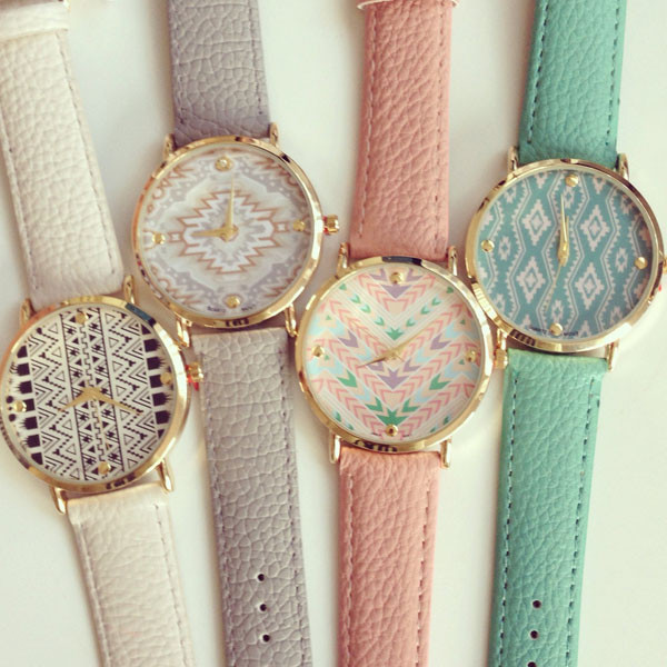 Geneva tribal patterns watch (4 colors available) – glamzelle