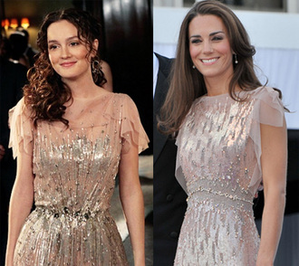 blair waldorf leighton meester gossip girl kate middleton glitter dress embroidered prom dress jenny packham