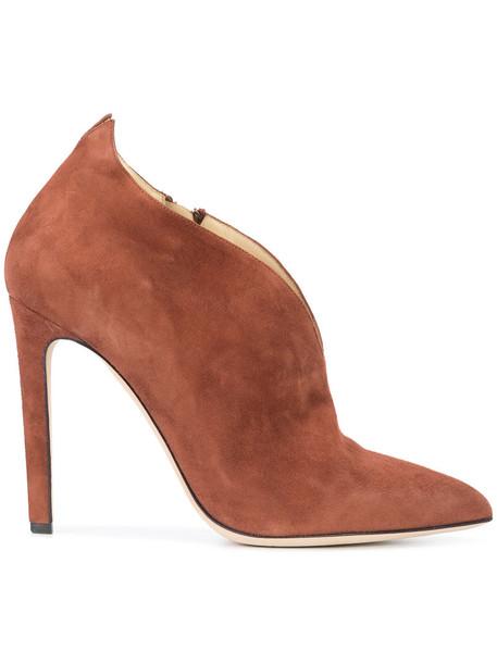 CHLOE GOSSELIN women boots leather suede brown shoes