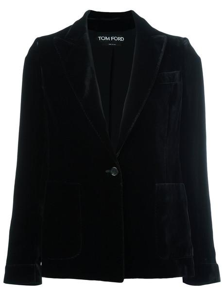 Tom Ford blazer women classic black silk jacket