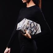 bag,roccia,cow leather,python,clutch,textured leather clutch,leather clutch,bags and purses,edgy