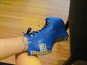 shoes,fashion,cross,cute,blue,royal,heels,pumps,trendy,modern,girl,women,bag,pants