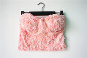 top,toos,bustier,corset,floral,florals,flowers,rose,blossom,clothes,shirt,crop tops,flowery shirt,pinkkk