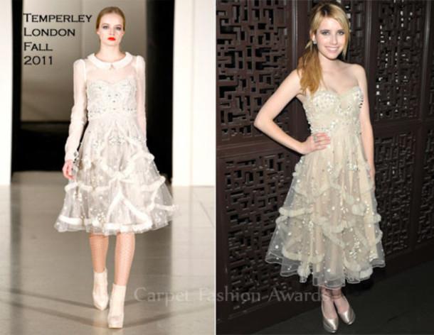 white dress emma roberts