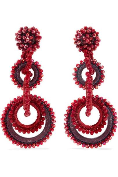 Bibi Marini earrings silk red jewels
