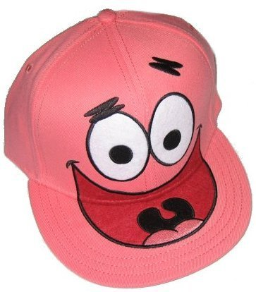 Amazon.com: Sponge Bob Square Pants Spongebob Squarepants Patrick Face Fitted Flat-bill Hat: Clothing