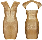 dress,dream it wear it,clothes,gold,gold dress,bandage,bandage dress,bodycon,bodycon dress,v neck,front zipper,sexy,sexy dress,party,party dress,cocktail,cocktail dress,elegant,elegant dress,summer outfits,pool party