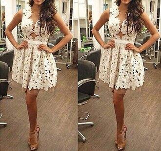 dress summer dress crochet