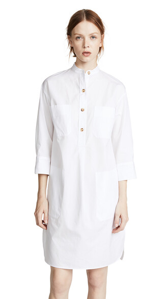 shirtdress white dress