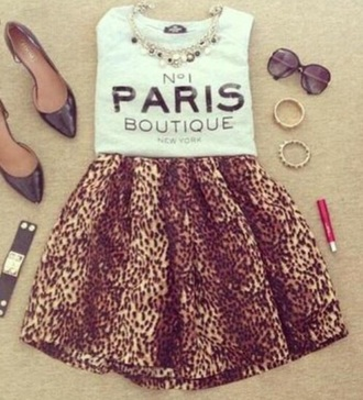 skirt cute paris heels leopard timberlands