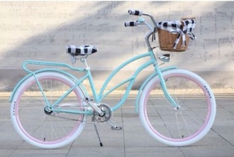 bag cute dress biker jacket bikes pastel bicycle
