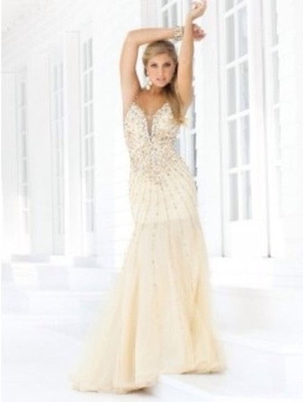 dress prom dress fishtail sherrihill
