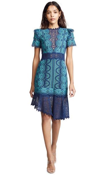Sea Lola Lace Dress in blue / multi