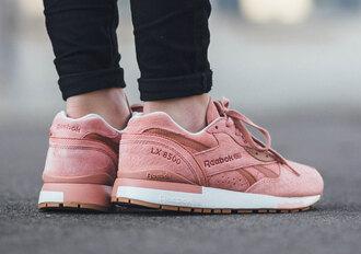 shoes reebok pink sneakers