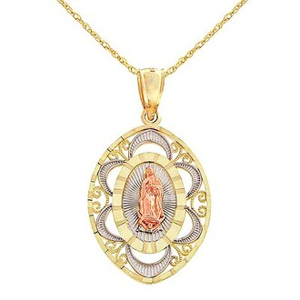 jewels religious mexican mexico gold necklace