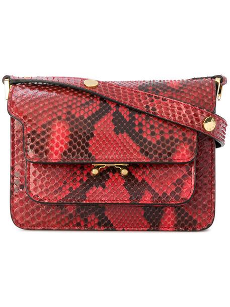 MARNI mini women python bag shoulder bag red