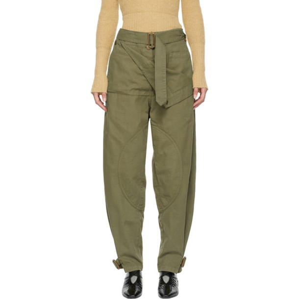 JW Anderson Green Fold Front Utility Trousers