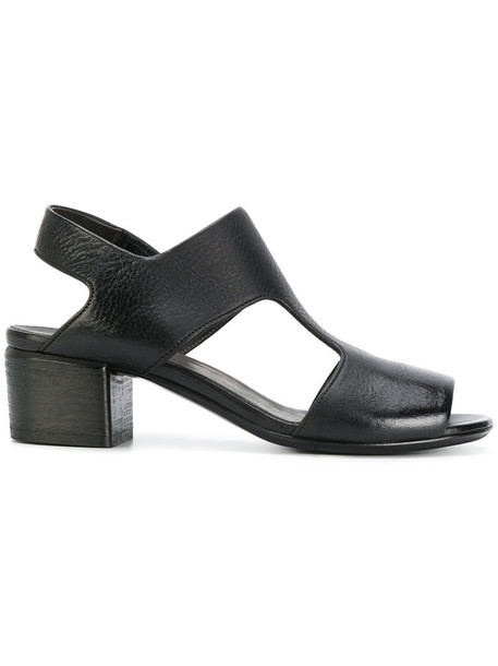 Marsèll women sandals leather black shoes